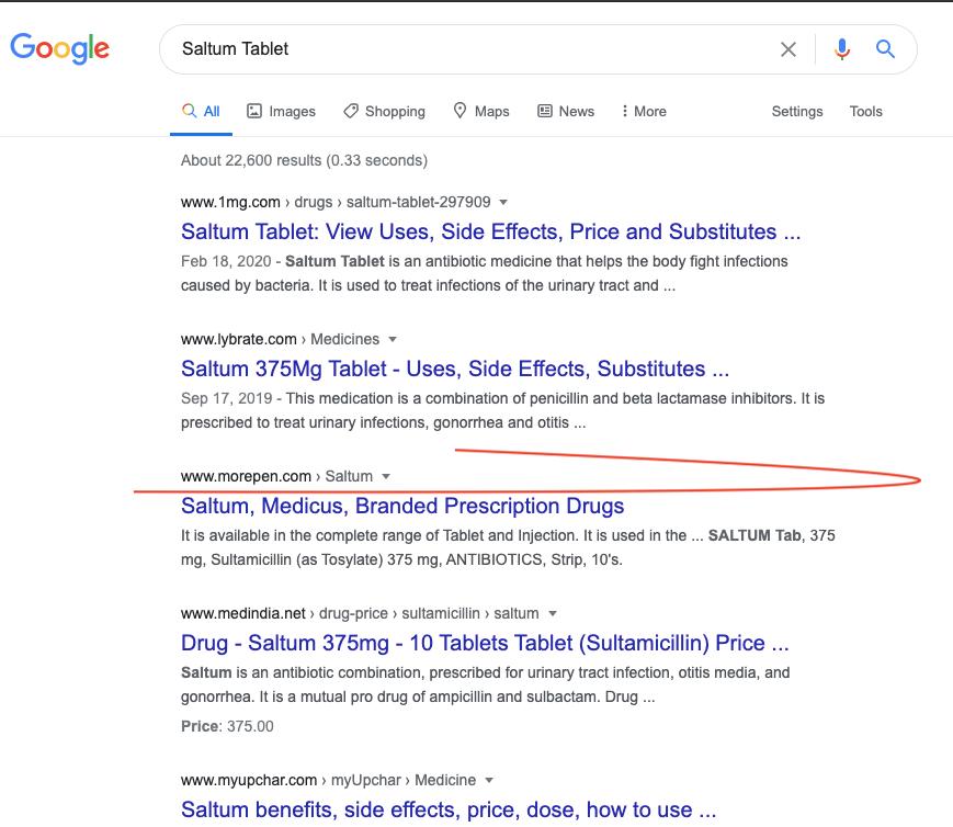 SEO Google Ranking Result